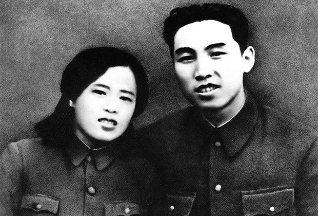 Ким Ир Сен и Ким Чон Сук после свадьбы
