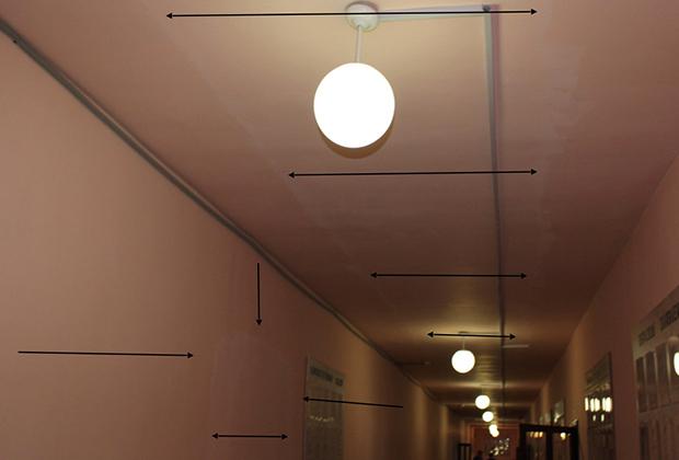 Подвесной потолок, попавший на видео издевательств над заключенными