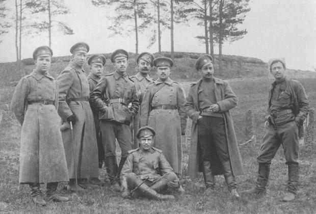 Офицеры 1-го Украинского полка имени Богдана Хмельницкого