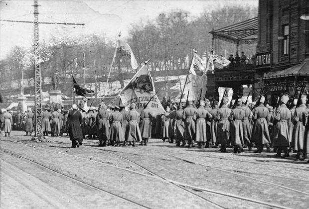 Полуботковцы в центре Киева