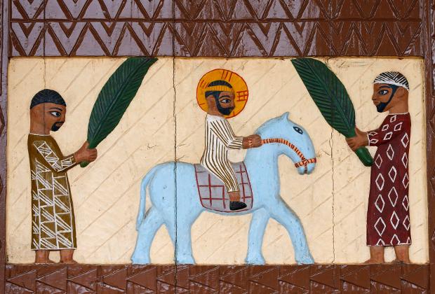 Иисус на входе в Иерусалим, фреска