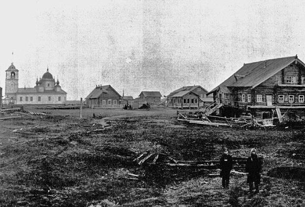 Вид Пустозёрска, 1909 год