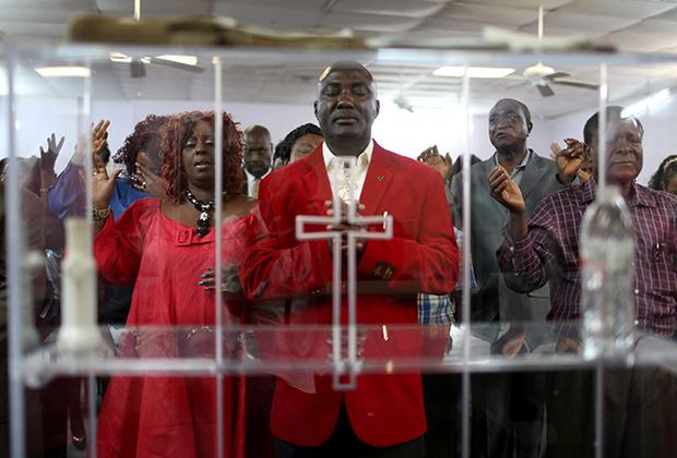 Молебен в техасской «черной» церкви