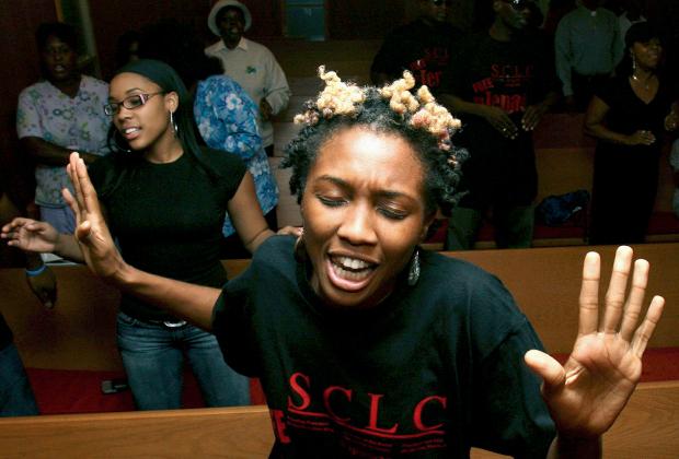 Служба в афроамериканской церкви