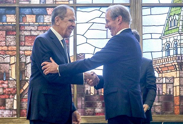 Сергей Лавров и Маттиас Платцек, президент Германо-российского форума