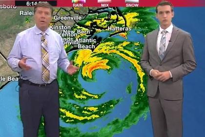 Американские метеорологи сообщили о затоплении своей телестудии в прямом эфире