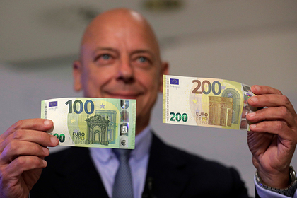 ВЕС представили новые купюры 100 и200евро