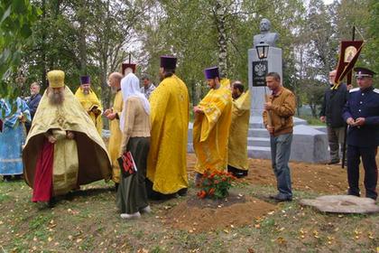 Тверская область, село Берново. Освящение памятника императору Александру II