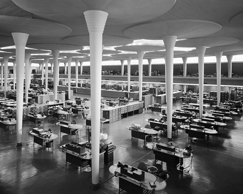 Башня Johnson Wax Tower, Расин, США, 1950 год. Проект Фрэнка Ллойда Райта