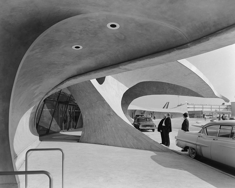 Терминал аэропорта Айдлуайлд, Нью-Йорк, США, 1962 год. Проект Ээро Сааринена