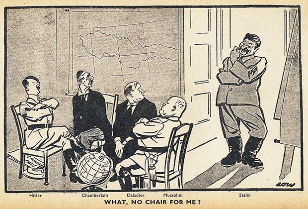 Карикатура в британской газете Evening Standard. Подпись снизу: «Что, для меня стула нет?»