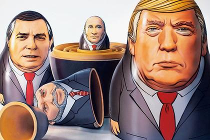 Путин и Трамп оказались в одной матрешке на обложке Time