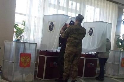 «Давление» на солдата-избирателя объяснили съемкой для стенгазеты
