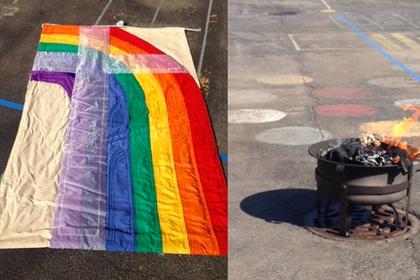 В США глава церкви поплатился за сеанс экзорцизма над флагом ЛГБТ