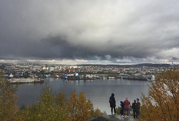 Вид на Мурманск с Абрам-Мыса