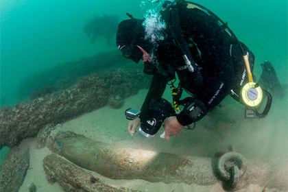 На месте кораблекрушения нашли старинные сокровища