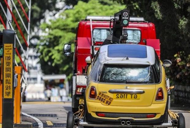 Автомобиль, в котором погибли Вон Су Фин и Лили Хау Ли Лин