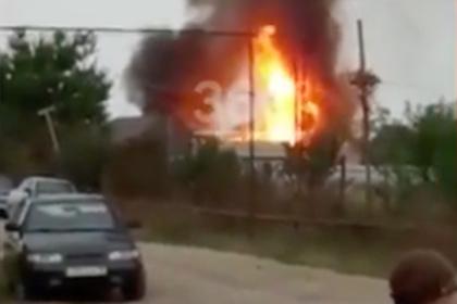 Мощный взрыв на автозаправке в Чечне попал на видео