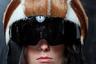 Пока люксовые бренды поголовно отказываются от использования натурального меха, дизайнер Marques Almeida пустил шкуры на мотоциклетные шлемы.