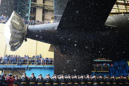 Спуск на воду атомного подводного крейсера «Казань»