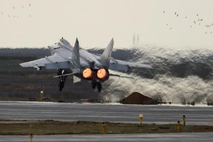 У МиГ-31 заметили противоспутниковую ракету