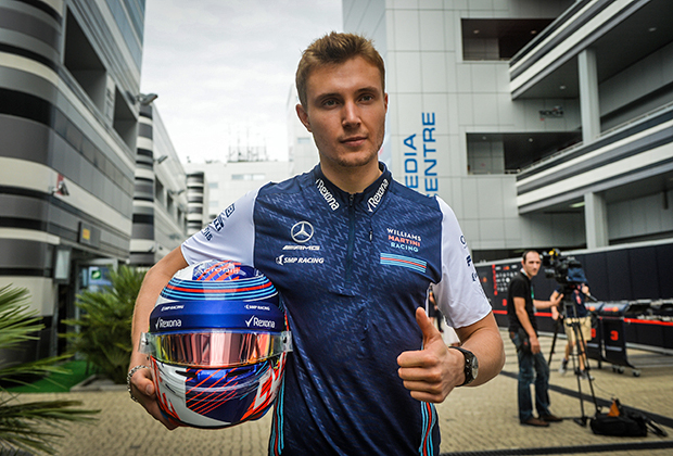 На домашнем Гран-при пилот Williams Сергей Сироткин выступал в особом патриотическом шлеме в цветах российского триколора.