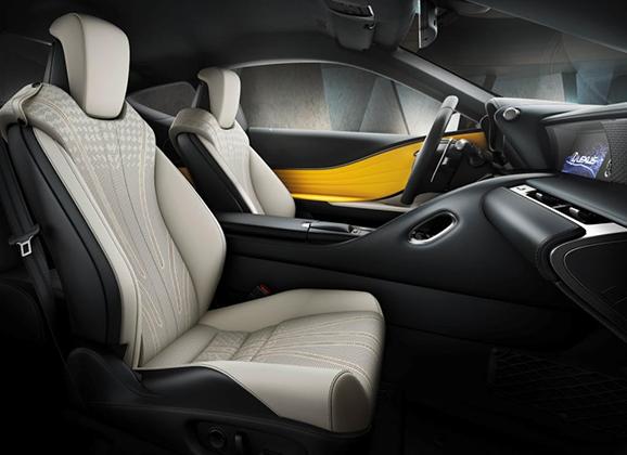 Салон Lexus LC Yellow Edition