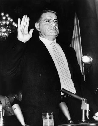 Валачи дает показания в Сенате США