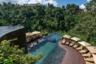 Примерно столько же стоит номер в гостинице Hanging Gardens of Bali на Бали. Бассейн здесь на нескольких уровнях, вокруг — лес. Идеальное место для водных процедур.