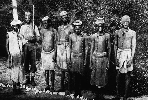 Чернокожие рабы, привезенные из Африки