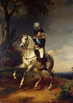 Франц Крюгер «Александр I в 1814 году под Парижем». 1837