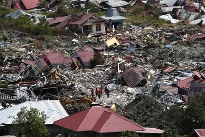Разрушения от землетрясения в Индонезии сняли на видео со спутника