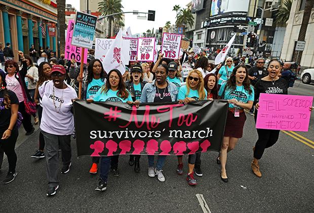 Марш жертв сексуального насилия, Лос-Анджелес, США. 12 ноября 2017 года