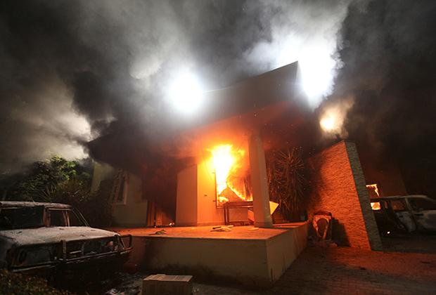 Атакованное консульство США в Бенгази