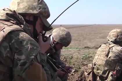 Учения украинской армии на границе с ДНР показали на видео