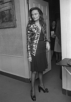 Модельер Диана фон Фюрстенберг в 1973 году