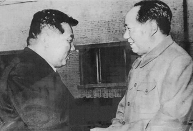 Ким Ир Сен и Мао Цзедун