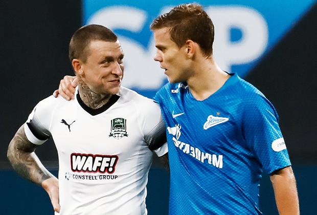 Александр Кокорин (справа) и Павел Мамаев