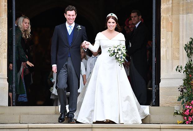 Свадьба принцессы Евгении и Джека Бруксбэнка в часовне Святого Георгия в Виндзорском замке, 12 октября 2018 года