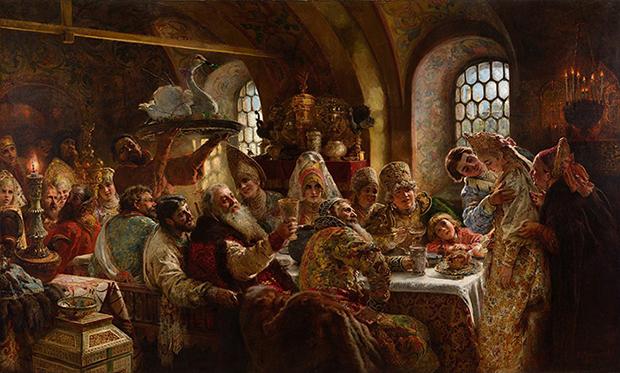 «Свадебный пир у бояр в XVII веке»