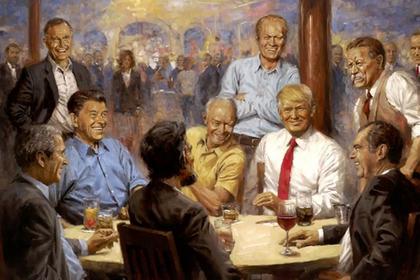 Трампа высмеяли за нелепую картину в Белом доме