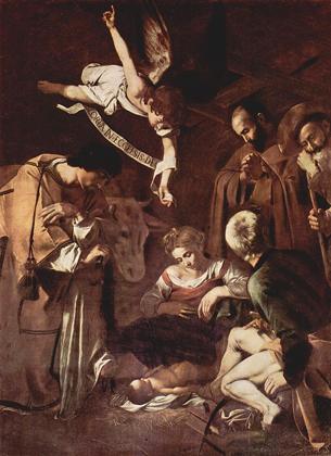 «Рождество со святым Франциском и святым Лаврентием» Караваджо