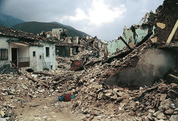 Лавьяно после землетрясения