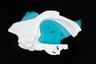 Испанский фотограф Кристобаль Серрано поднял в воздух бесшумный дрон с камерой, чтобы снять 40-метровый айсберг в проливе Эррера на северной оконечности Антарктиды. Теплый  воздух промыл в огромной глыбе льда своеобразный бассейн, который тут же облюбовали тюлени-крабоеды.
