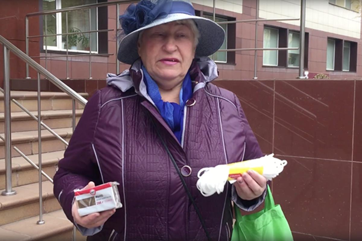 Российская пенсионерка подарила министру мыло и веревку - (video)
