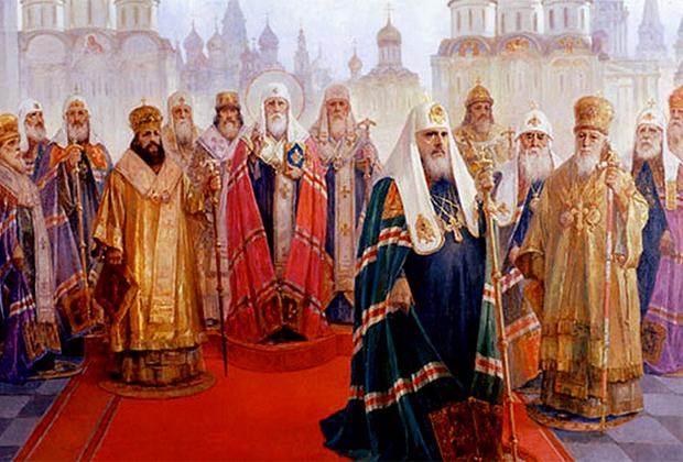 Патриархи Всероссийские. Картина 70-х годов XX века