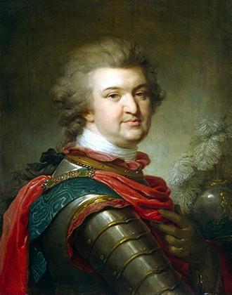 Портрет князя Григория Потемкина —самого главного фаворита императрицы, ее постоянного сподвижника и отца нескольких ее детей.