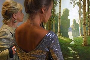 Посетители выставки «Архип Куинджи» в Третьяковской галерее