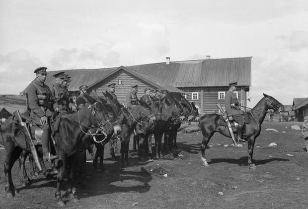 Отряд британской кавалерии. Север России, Святнаволок, 1919 г.