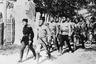 Пехота белой Донской армии на марше. Ростов-на-Дону, май 1919 г.
